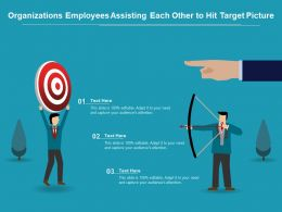 Organizations Employees Assisting Each Other To Hit Target Picture