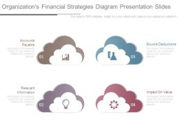 Organizations Financial Strategies Diagram Presentation Slides