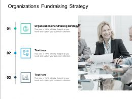 Organizations Fundraising Strategy Ppt Powerpoint Presentation Ideas Slide Cpb