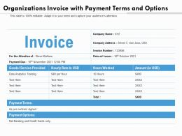 Organizations Invoice With Payment Terms And Options