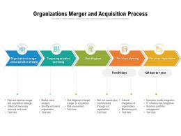 Organizations Merger And Acquisition Process