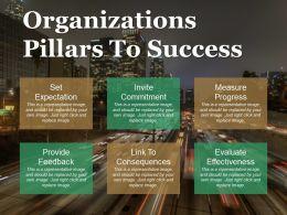 Organizations Pillars To Success Ppt Background
