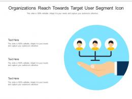 Organizations Reach Towards Target User Segment Icon