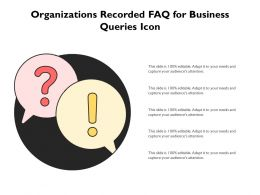 Organizations Recorded FAQ For Business Queries Icon
