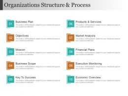 Organizations Structure And Process Ppt Background Designs