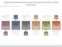 Organized Business Information Example Powerpoint Slide Download