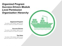 Organized Program Success Drivers Module Level Permission Organization Hierarchy