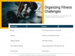 Organizing Fitness Challenges Group Goals Ppt Powerpoint Presentation Model Tips