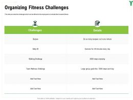 Organizing Fitness Challenges Large Group Ppt Powerpoint Presentation Model Maker