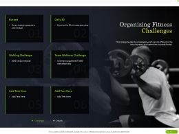 Organizing Fitness Challenges Ppt Powerpoint Presentation Ideas Layout