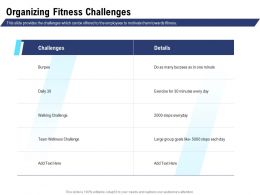 Organizing Fitness Challenges Team Wellness Ppt Powerpoint Inspiration