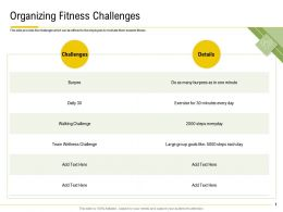 Organizing Fitness Challenges Walking Challenge Ppt Powerpoint Themes