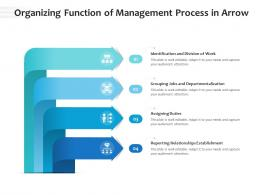 Organizing Function Of Management Process In Arrow