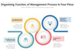 Organizing Function Of Management Process In Four Piece