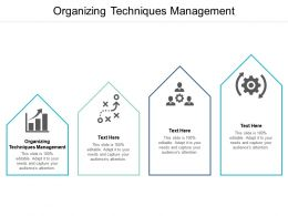 Organizing Techniques Management Ppt Powerpoint Presentation Inspiration Graphics Design Cpb