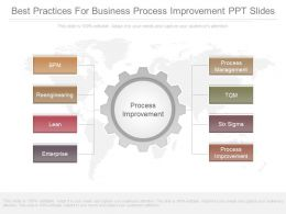 Original Best Practices For Business Process Improvement Ppt Slides