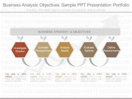 Original Business Analysis Objectives Sample Ppt Presentation Portfolio