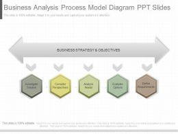 Original Business Analysis Process Model Diagram Ppt Slides
