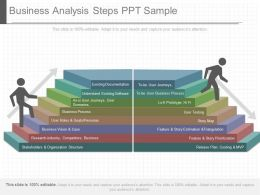 Original Business Analysis Steps Ppt Sample