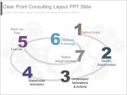 Original Clear Point Consulting Layout Ppt Slide