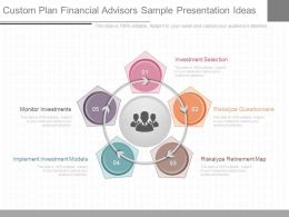 Original Custom Plan Financial Advisors Sample Presentation Ideas