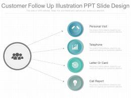 Original Customer Follow Up Illustration Ppt Slide Design