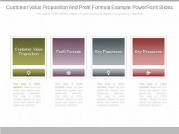 Original Customer Value Proposition And Profit Formula Example Powerpoint Slides