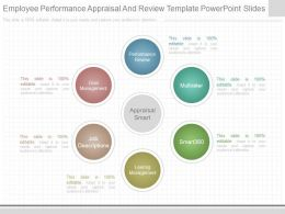 Original Employee Performance Appraisal And Review Template Powerpoint Slides