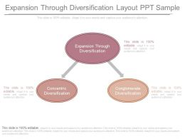 Original Expansion Through Diversification Layout Ppt Sample