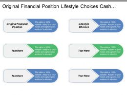 Original Financial Position Lifestyle Choices Cash Flow Balance Sheet