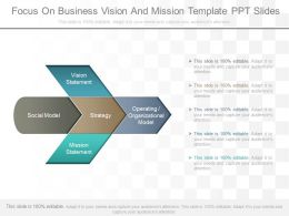 Original Focus On Business Vision And Mission Template Ppt Slides