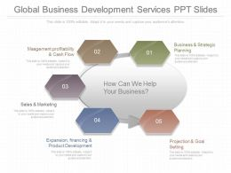 Original Global Business Development Services Ppt Slides