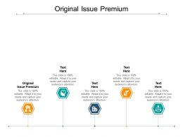 Original Issue Premium Ppt Powerpoint Presentation Icon Structure Cpb