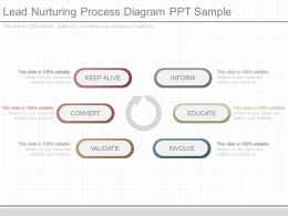 Original Lead Nurturing Process Diagram Ppt Sample