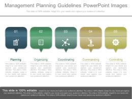 Original Management Planning Guidelines Powerpoint Images