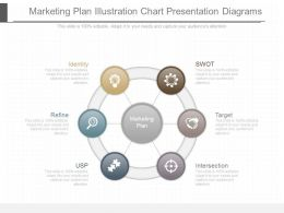 Original Marketing Plan Illustration Chart Presentation Diagrams