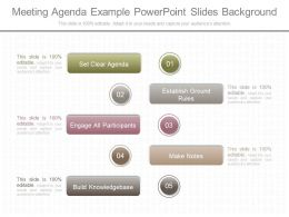 Original Meeting Agenda Example Powerpoint Slides Background