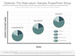 Original Optimize The Risk Return Sample Powerpoint Show
