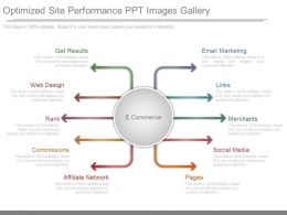Original Optimized Site Performance Ppt Images Gallery