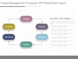 Original Project Management Processes Ppt Powerpoint Layout
