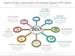 Original Search Engine Optimization Knowledge Diagram Ppt Slides
