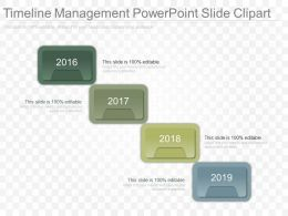 Original Timeline Management Powerpoint Slide Clipart