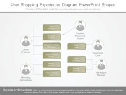 Original User Shopping Experience Diagram Powerpoint Shapes
