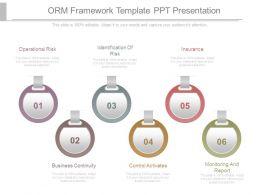Orm Framework Template Ppt Presentation