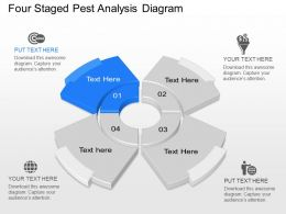 Os Four Staged Pest Analysis Diagram Powerpoint Template Slide
