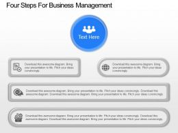 os Four Steps For Business Management Powerpoint Template