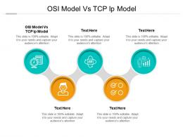 OSI Model Vs TCP IP Model Ppt Powerpoint Presentation Pictures Grid Cpb