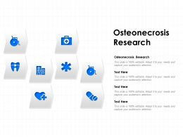 Osteonecrosis Research Ppt Powerpoint Presentation Pictures Brochure