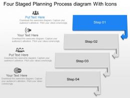 Ot Four Staged Planning Process Diagram With Icons Powerpoint Template Slide