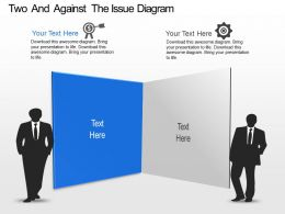 Ot Two And Against The Issue Diagram Powerpoint Template